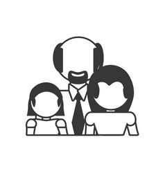 Family relation together outline vector