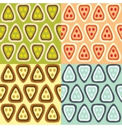 four patterns vector image vector image
