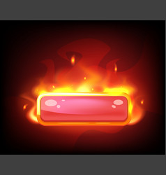 game long fiery red button vector image