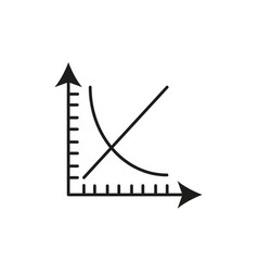 mathematical graphic line icon vector image