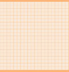 Orange metric graph paper seamless pattern vector