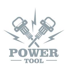 Power bump logo simple gray style vector