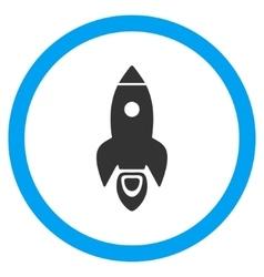 Rocket Start Flat Rounded Icon vector image