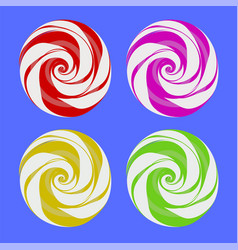 set of colorful sweet candy vector image