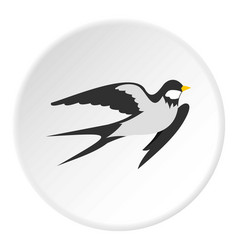 Swallow icon circle vector
