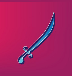 Sword sign blue 3d printed vector