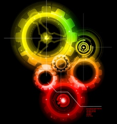 techno gears vector image