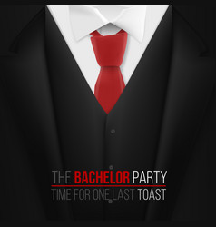The bachelor party invitation template realistic vector