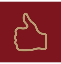 The thumb up icon like and yes approve symbol vector
