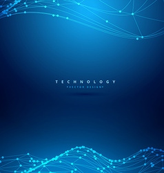 Mesh wireframe wave technology background vector