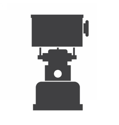 Camping gas stove icon vector