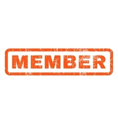 Member rubber stamp vector
