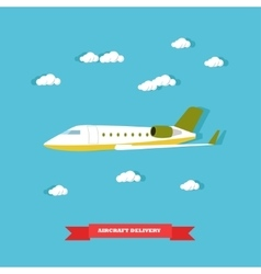 Aircraft delivery concept vector