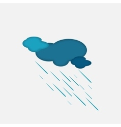 Weather icon of the rainy cloud vector