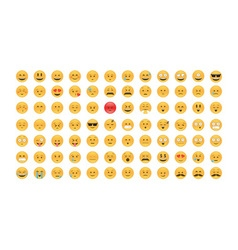 Set of emoticon vector