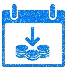 Coins income calendar day grainy texture icon vector