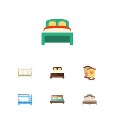 Flat bed set of cot crib furniture and other vector
