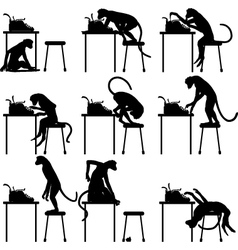 Typing monkeys vector