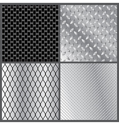 Grey metal textures vector