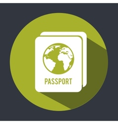 Passport design vector