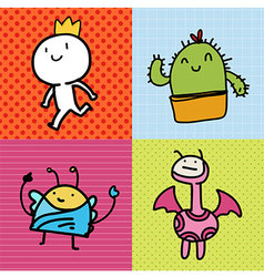 Doodle card kids vector