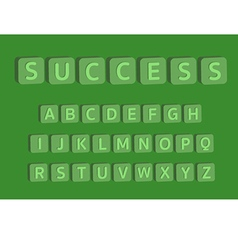 3d alphabet with word success vector