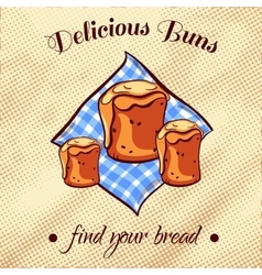 Bread on a napkin 16 vector