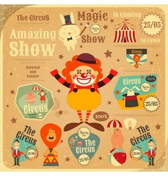 circus poster retro vector image