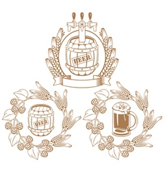 Barrel of beer vector image vector image