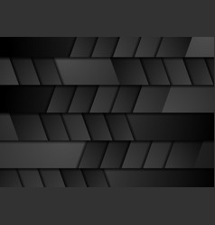 black geometric technology abstract background vector image vector image