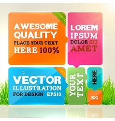 Bright banner set vector