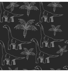 Brontosaurus chalk seamless vector image vector image