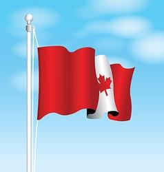 canada flag vector image vector image
