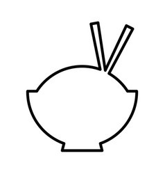 Chinese rice food icon vector