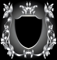 coat of arms silver monogram vector image vector image