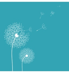 Dandelion in the wind background vector