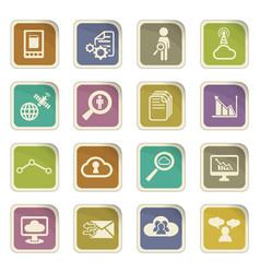 Data analytic icon set vector