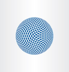 dotted halftone globe earth icon vector image