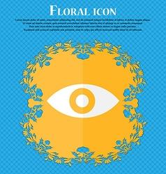 Eye publish content sixth sense intuition floral vector