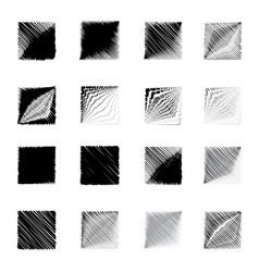 geometric square shapes figure sketch set vector image vector image