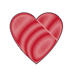 heart love romance passion adorable symbol vector image
