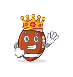 King american football character cartoon vector