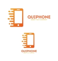 Logo or icon phone in motion vector