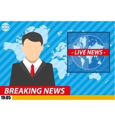 News announcer in the studio vector image vector image