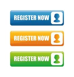 Register now design vector image