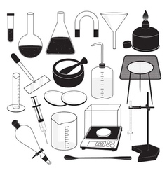 Science laboratory equipment vector
