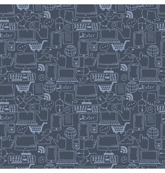 Seamless pattern hand drawn sketch icons for vector