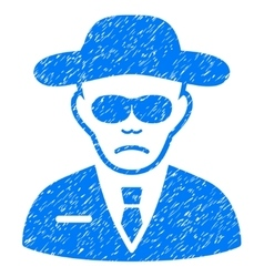Security agent grainy texture icon vector