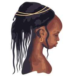 silhouette African woman vector image