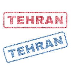 Tehran textile stamps vector